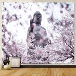 tenture zen bouddha fleurs