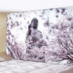 tapisserie murale bouddha zen