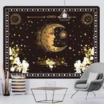 tenture murale lune fond étoilé