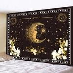tapisserie murale lune et étoiles