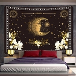 tenture murale espace lune étoiles