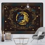 tenture décorative lune arabesques