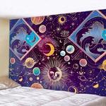 tenture zen astres soleil planètes vagues