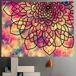 tenture murale zen mandala indien fleur
