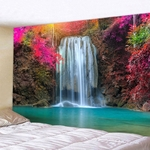 tapisserie murale tropicale chute deau