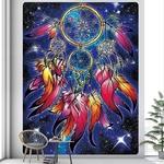 tenture décorative plumes