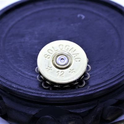 12 Gauge brooch