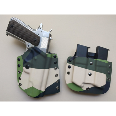 holster engaged etfr france camo suedois 1911 colt 45 acp pancake