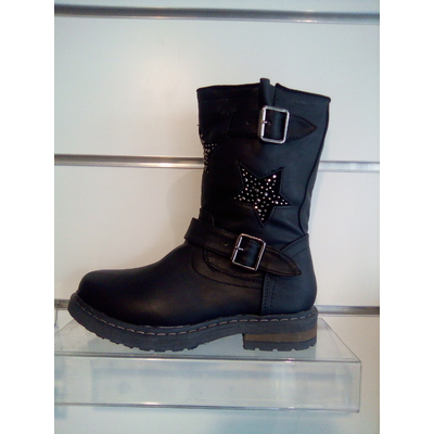 Bottines filles motif strass