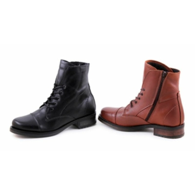 Bottines rangers en cuir