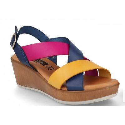 Sandales compensées en cuir