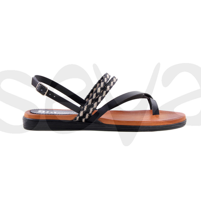 Sandales cuir entredroigt