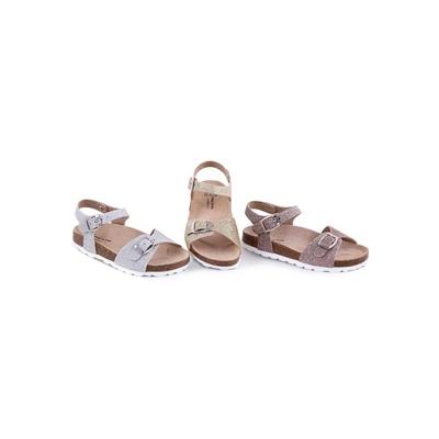 Sandale En Cuir glitter