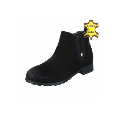 Bottines fourrés en daim