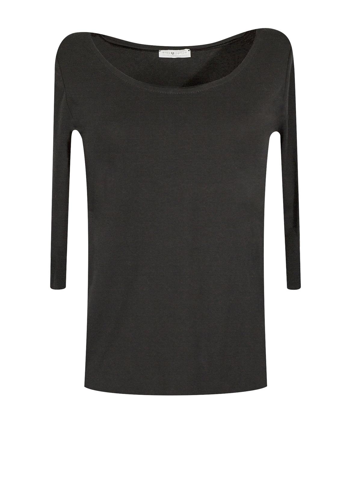 Top Sylvia en jersey de coton bio noir