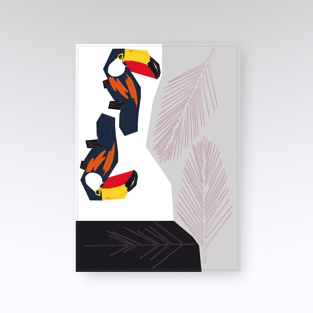 STICKERS MURAUX TOUCAN