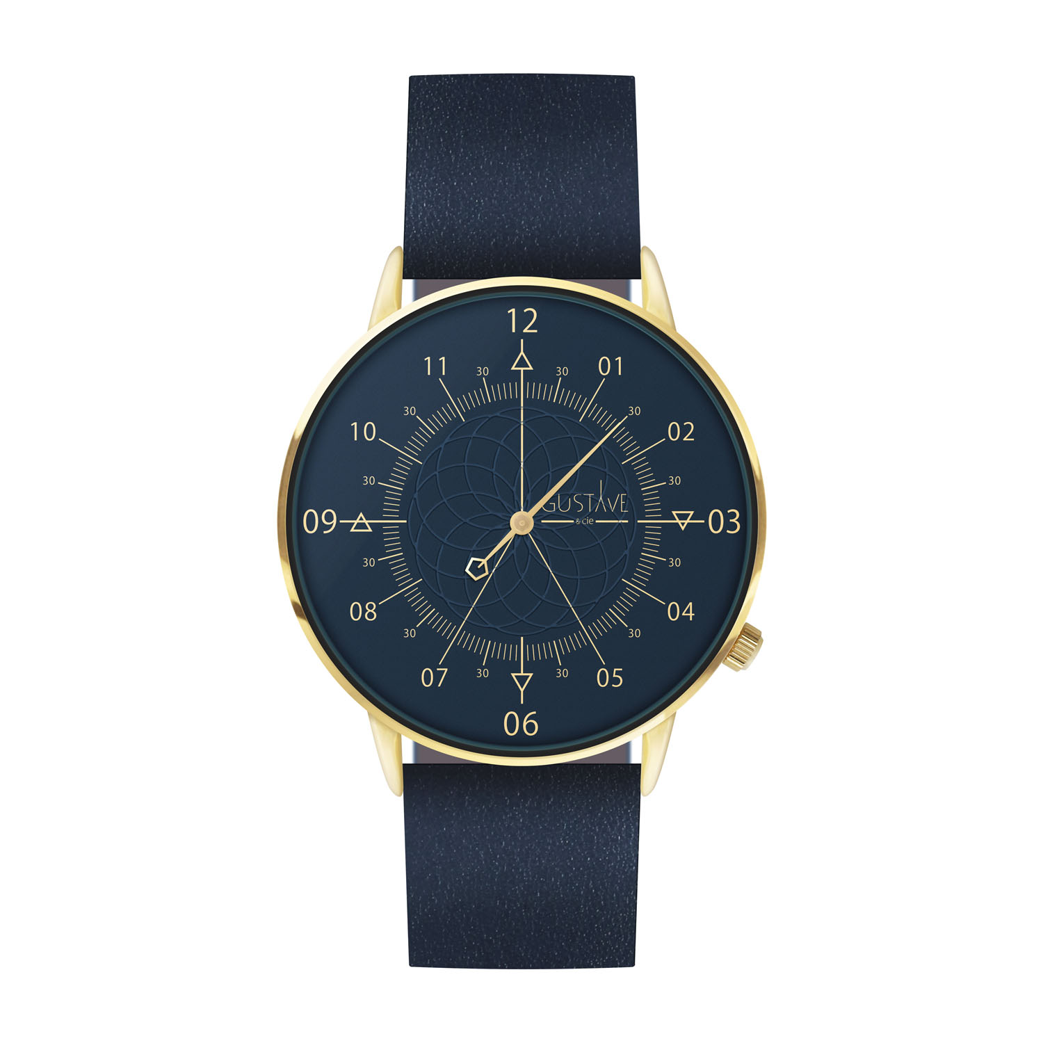 Montre mixte 12H Bleue & Or