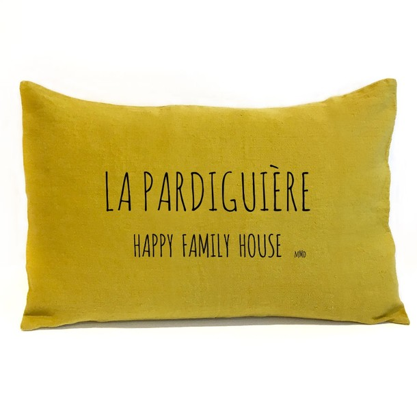COUSSIN EN LIN RECTANGLE PERSONNALISABLE