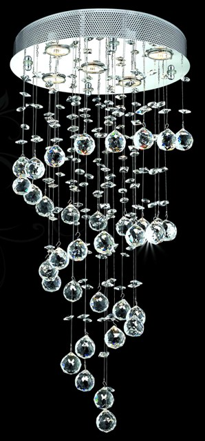 Lustre en cristal spirale