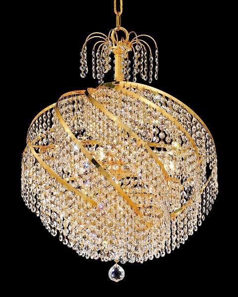 Lustre en Cristal doré