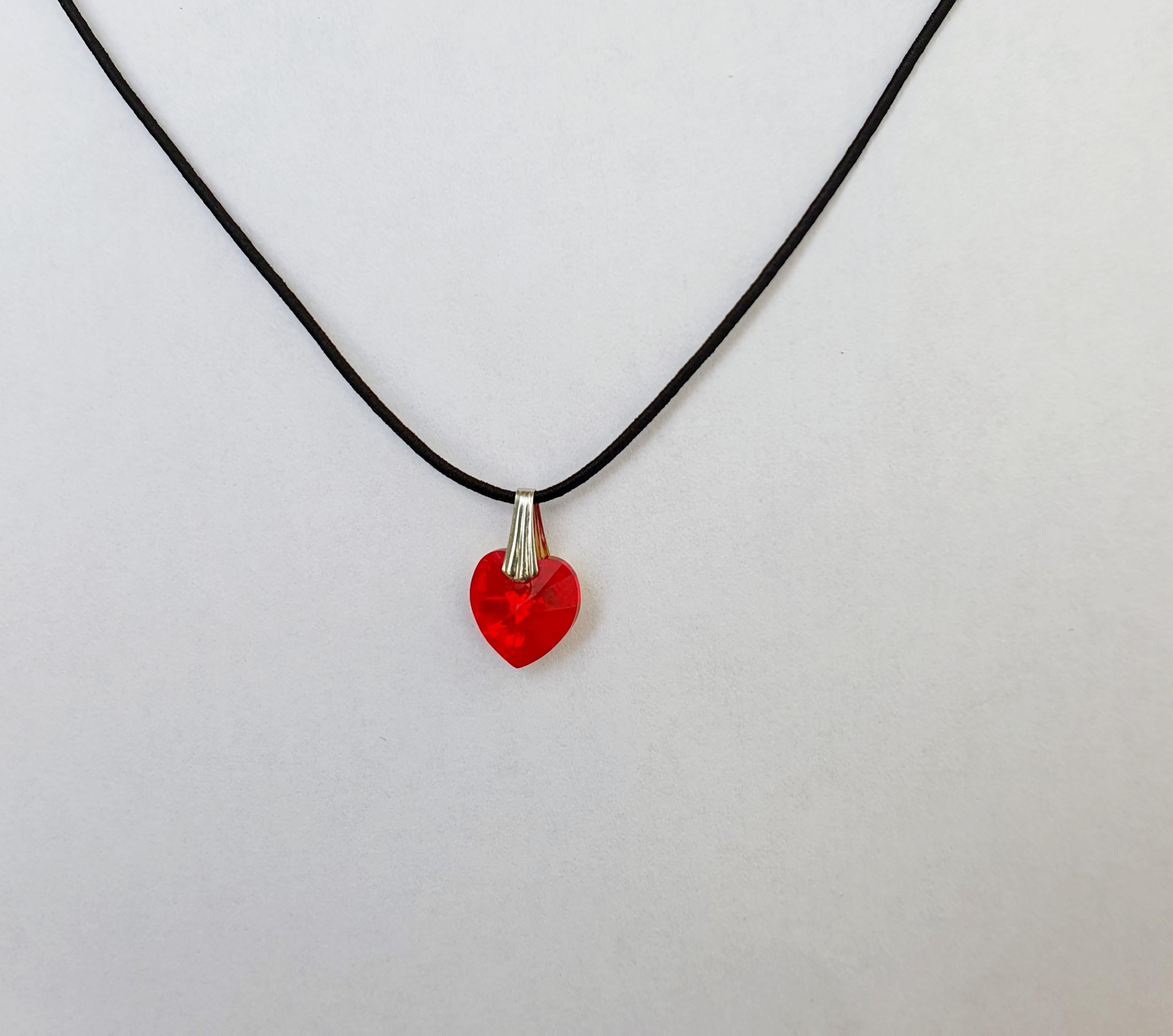 Coeur en Cristal Swarovski rouge