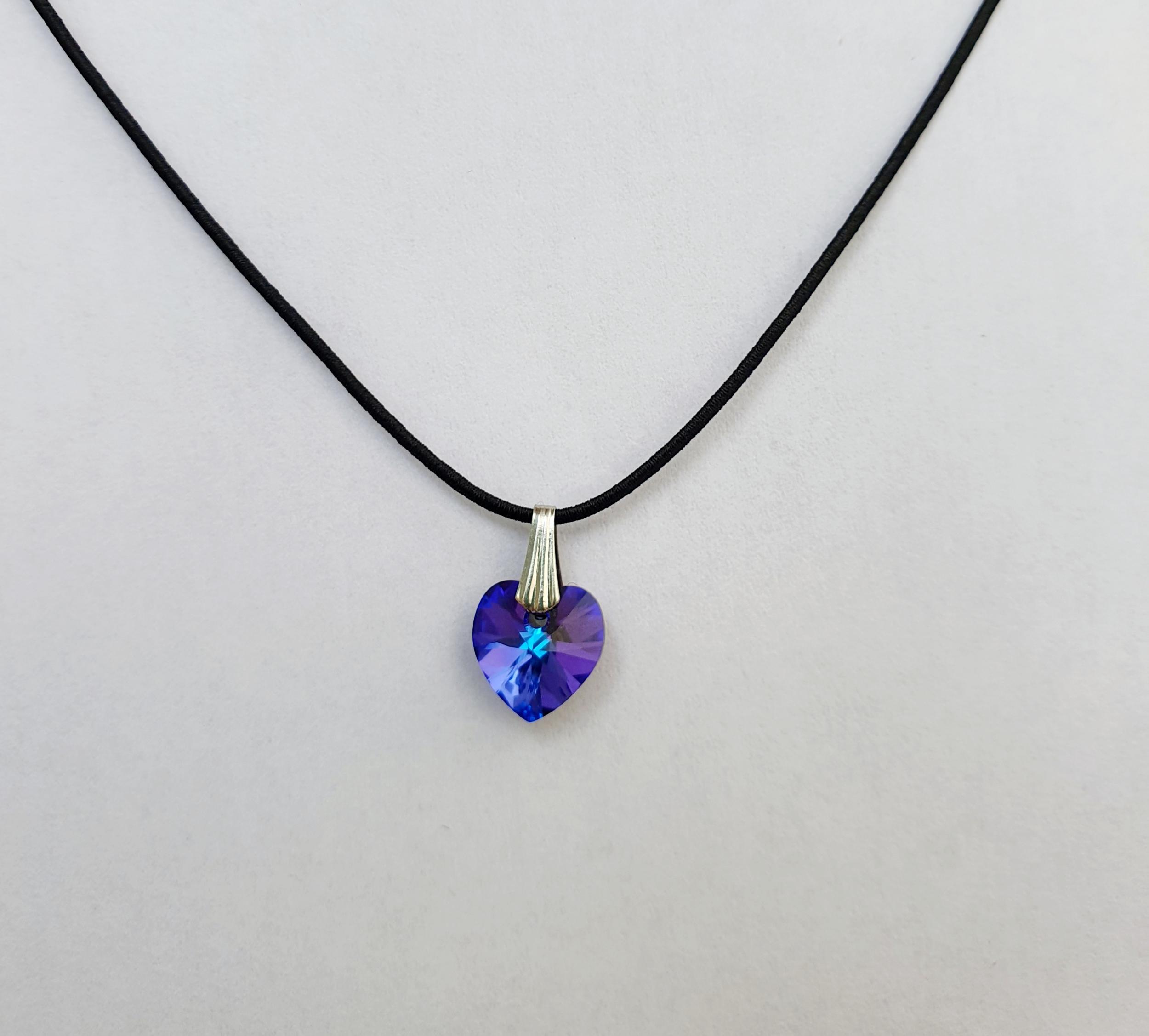 Coeur en Cristal Swarovski bleu