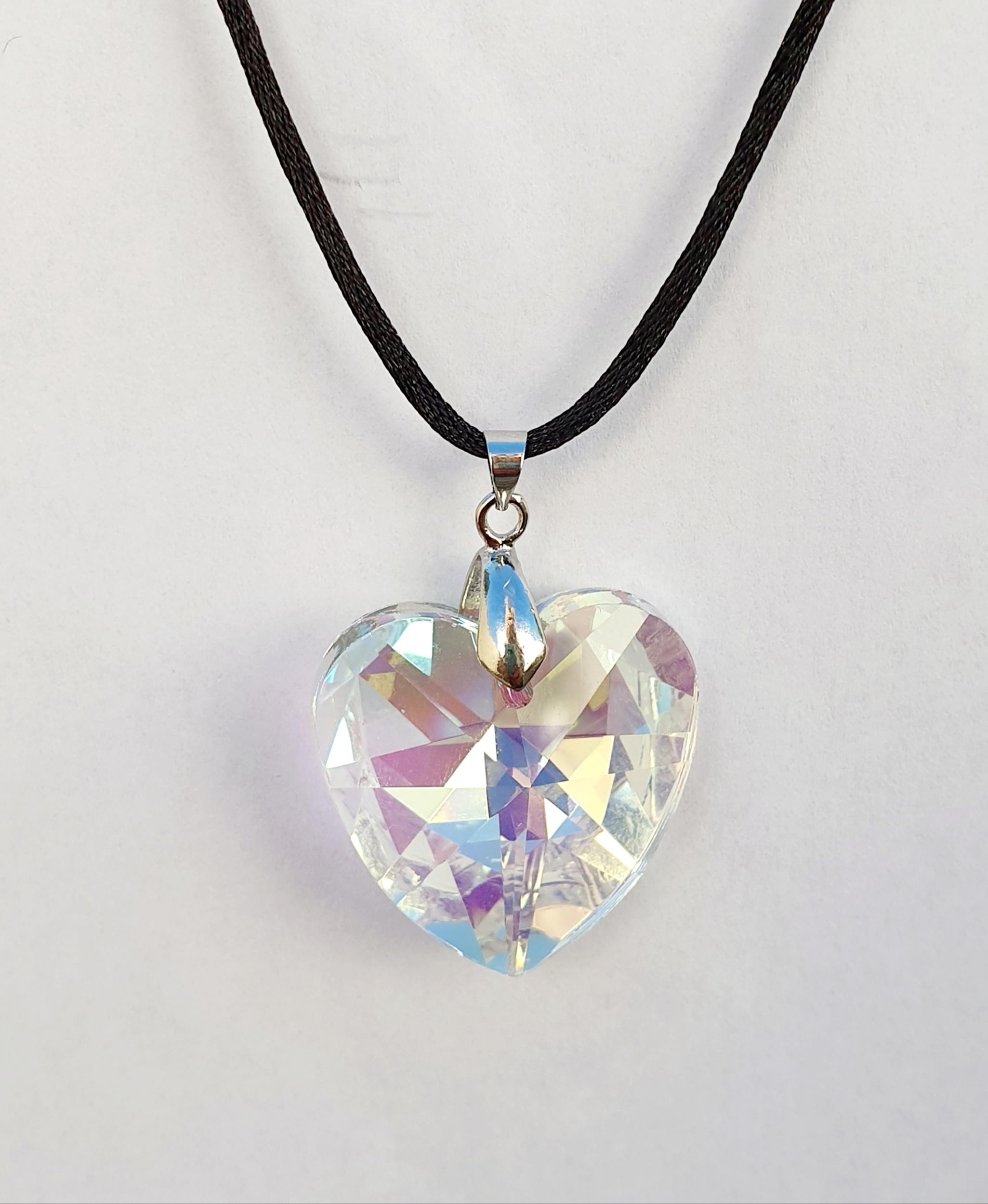 Pendentif Coeur en Cristal Swarovski boréale