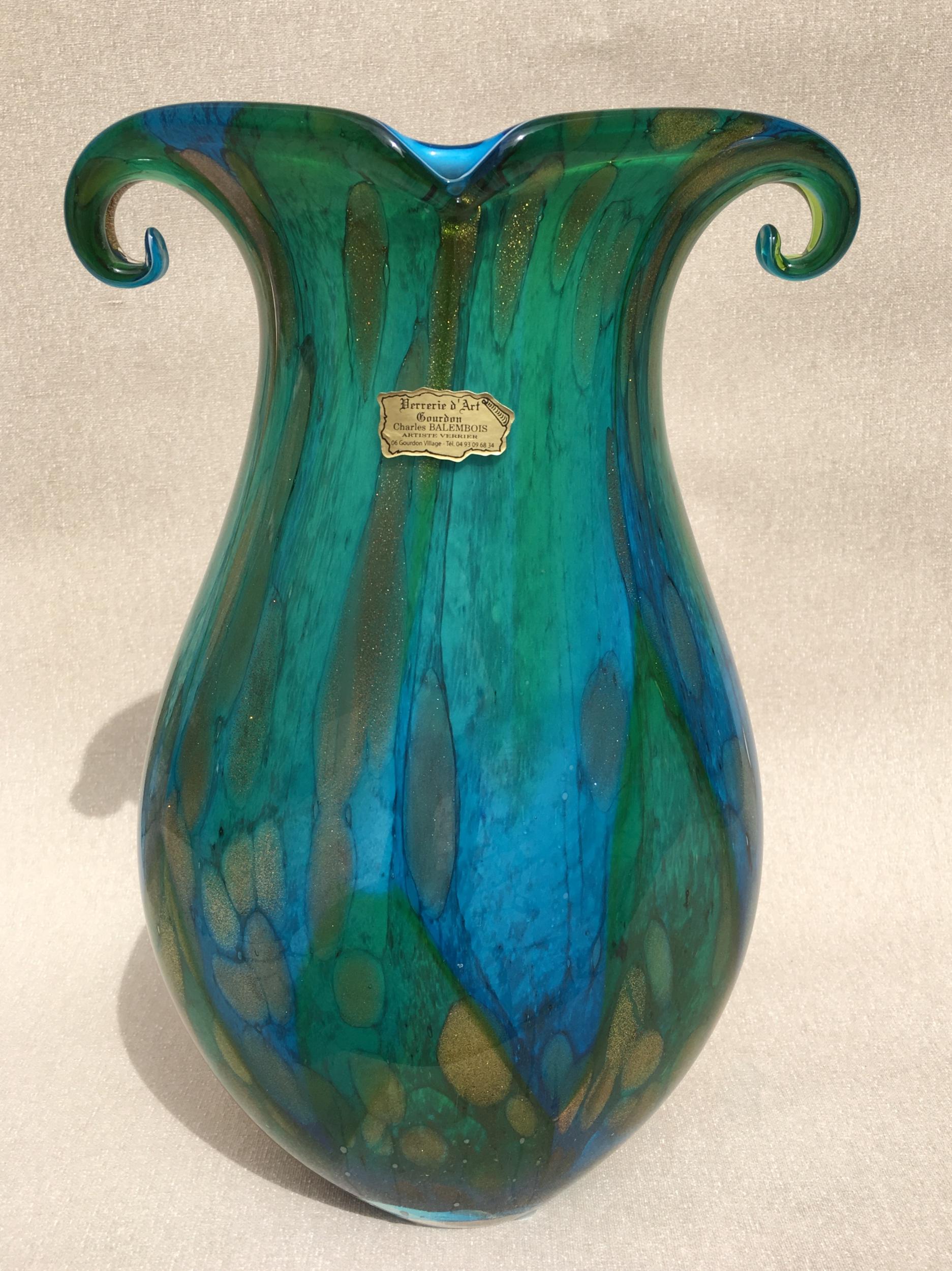 Vase San Remo en pâte de verre