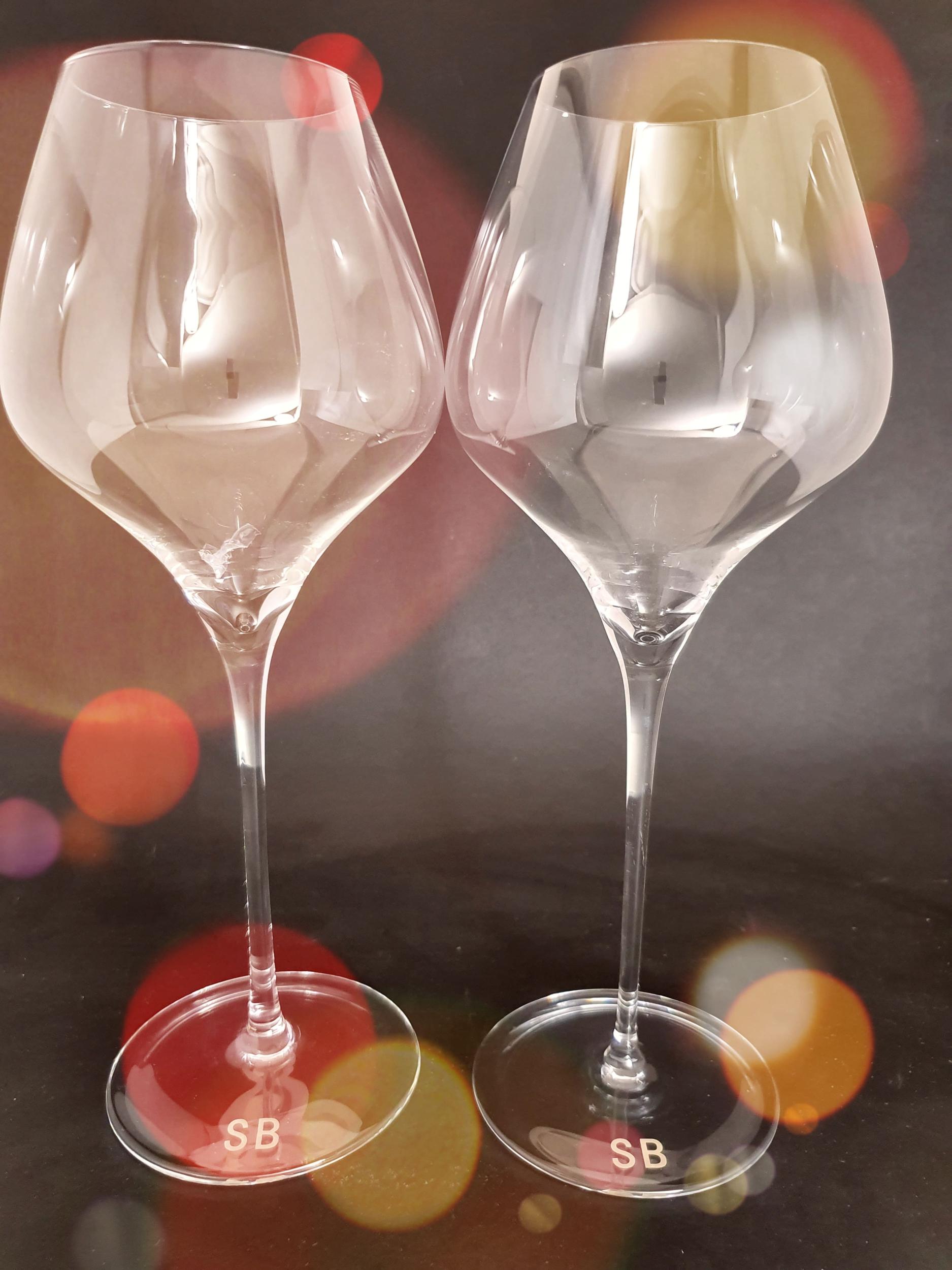 2 Grands Verres en Cristal Dégustation