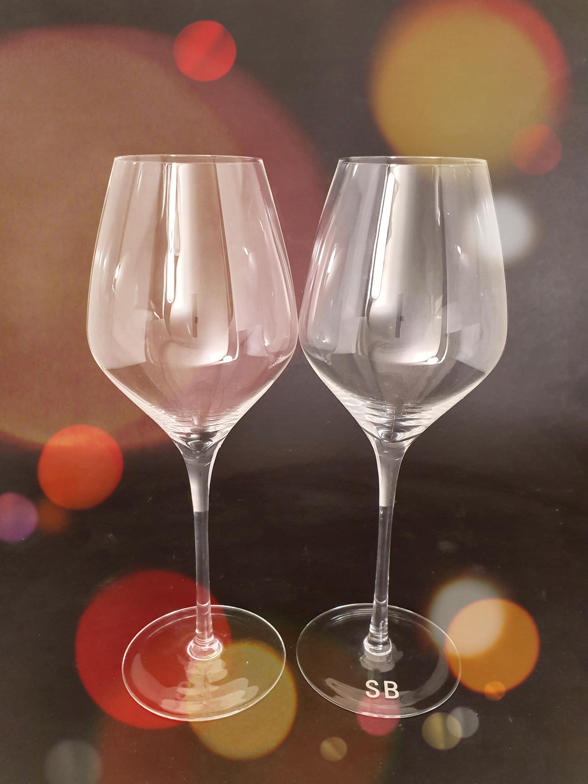 2 Verres à Vin en Cristal