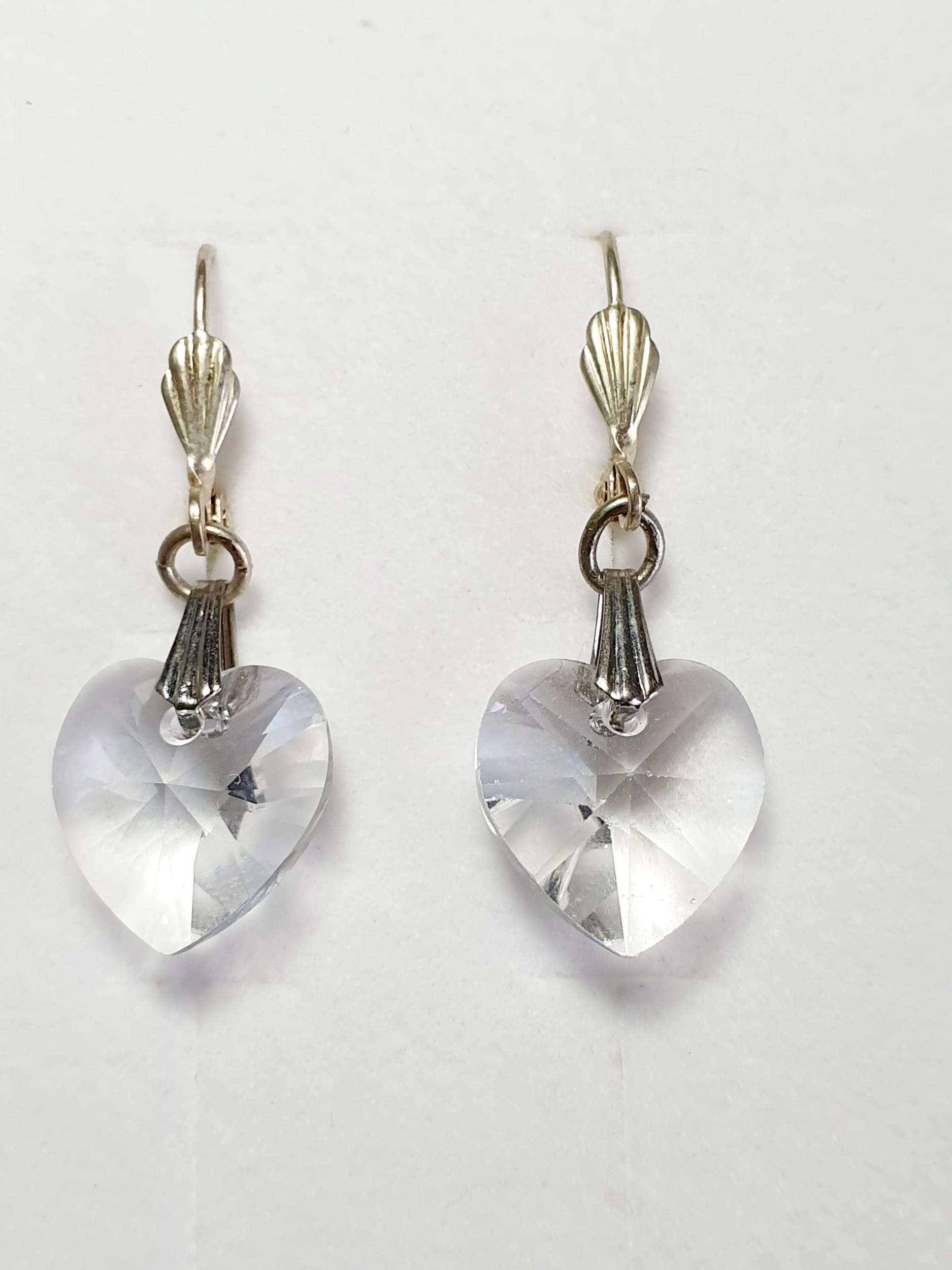 Boucles d\'oreilles coeur en cristal Swarovski