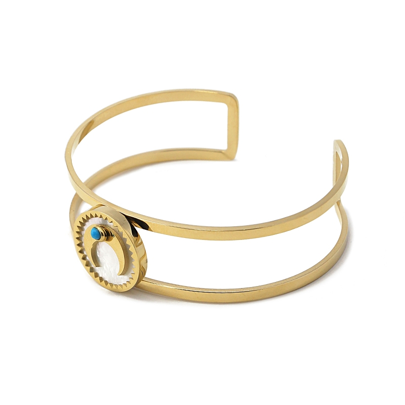 Bracelet lune nacre et turquoise