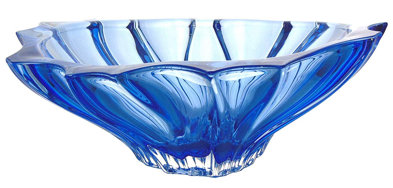 Coupe en cristal bleu