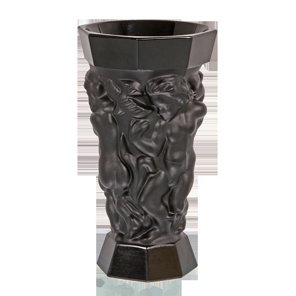 Vase en Cristal opalescent Noir