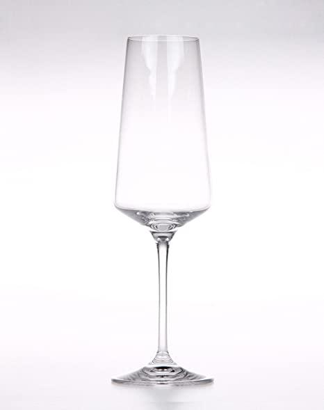 2 Flûtes à champagne en cristal lisse Arie