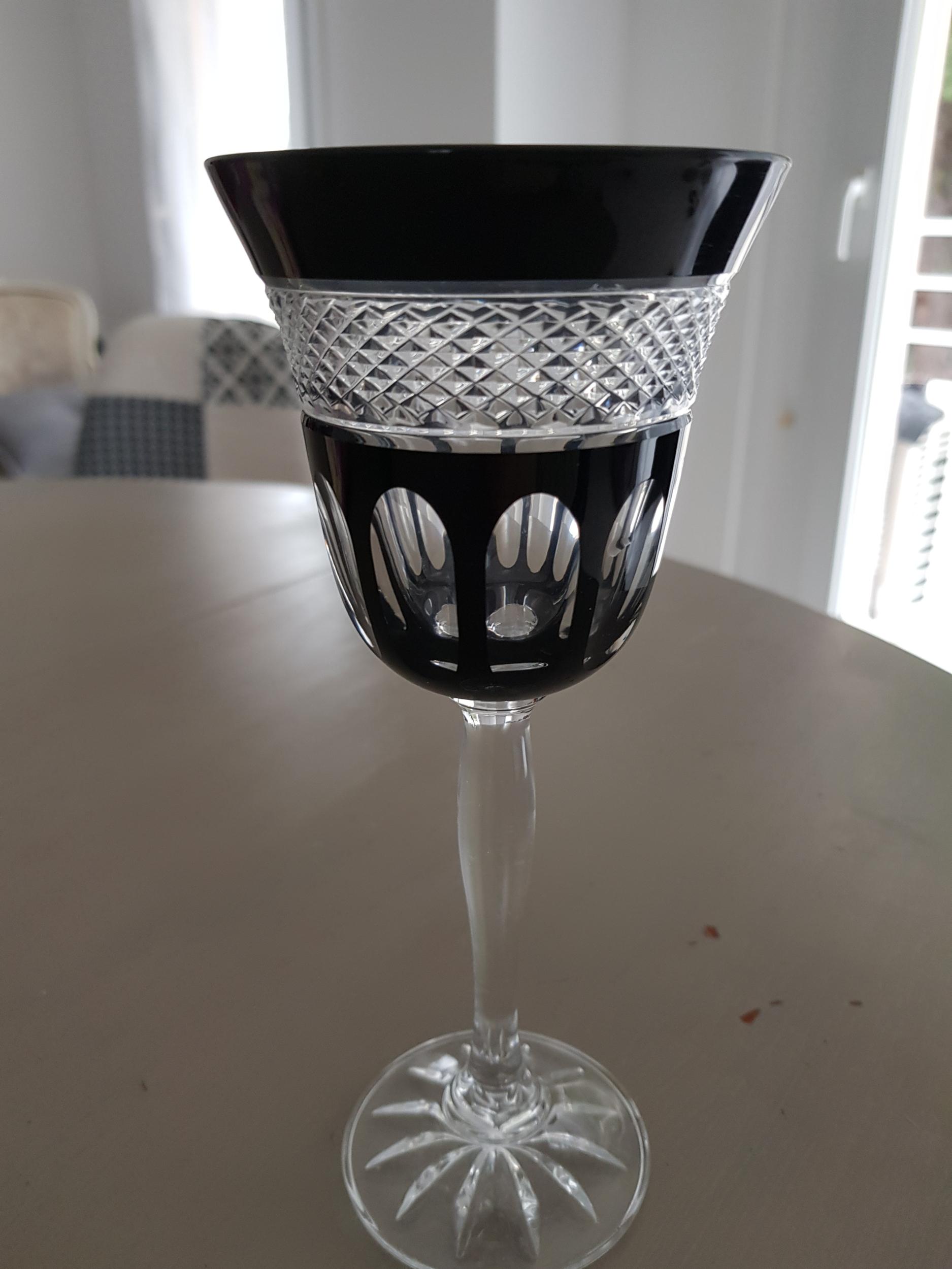 2 Verres à Vin Noir Mireille