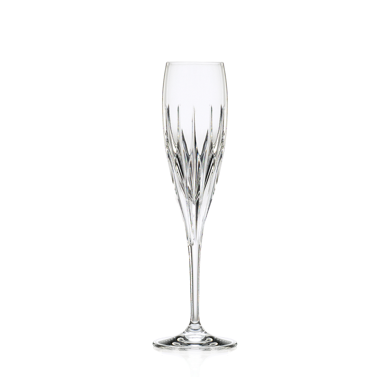 2 Flûtes à Champagne en cristal Prate