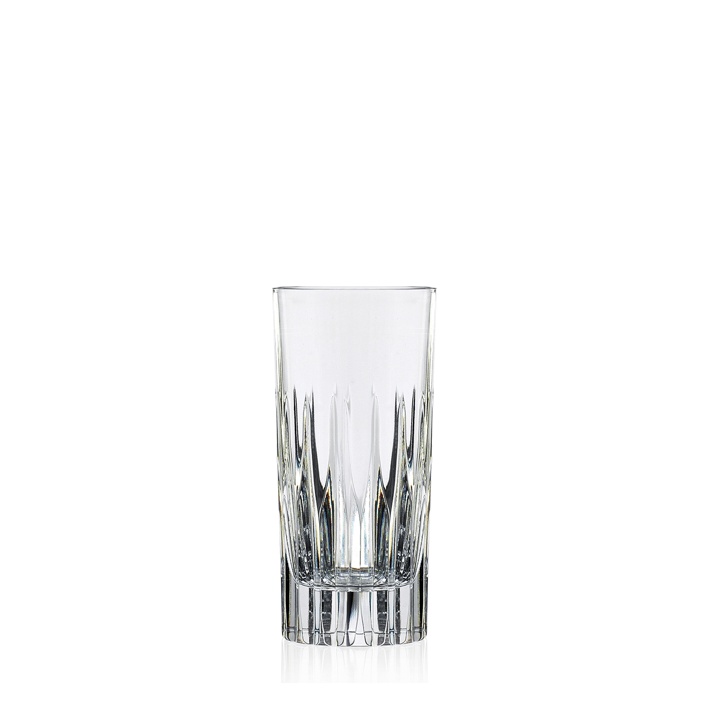 2 Verres Chope Haute en cristal Prate