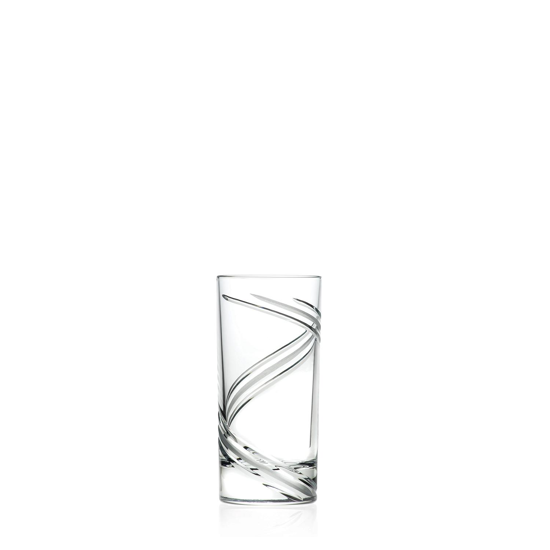 2 Verres Chope Haute en cristal Vertige