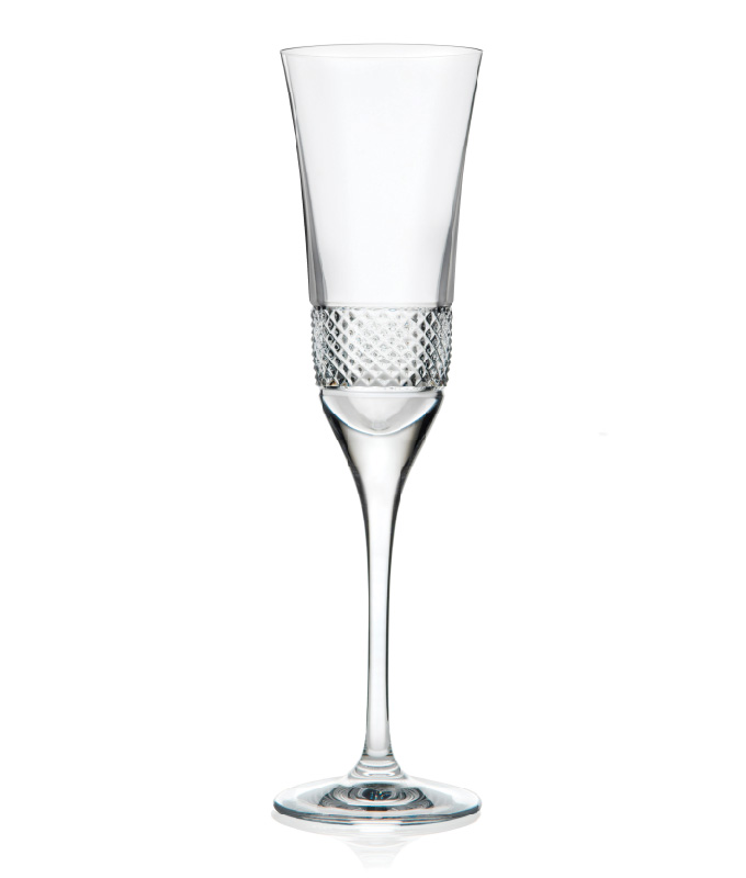 2 Flûtes à Champagne en cristal Fiesol