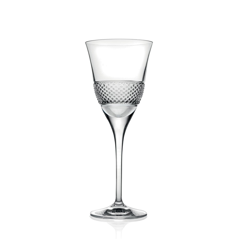 2 Verres à Vin en cristal Fiesol