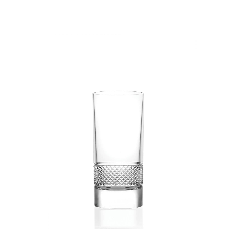2 Verres Chope Haute en cristal Fiesol