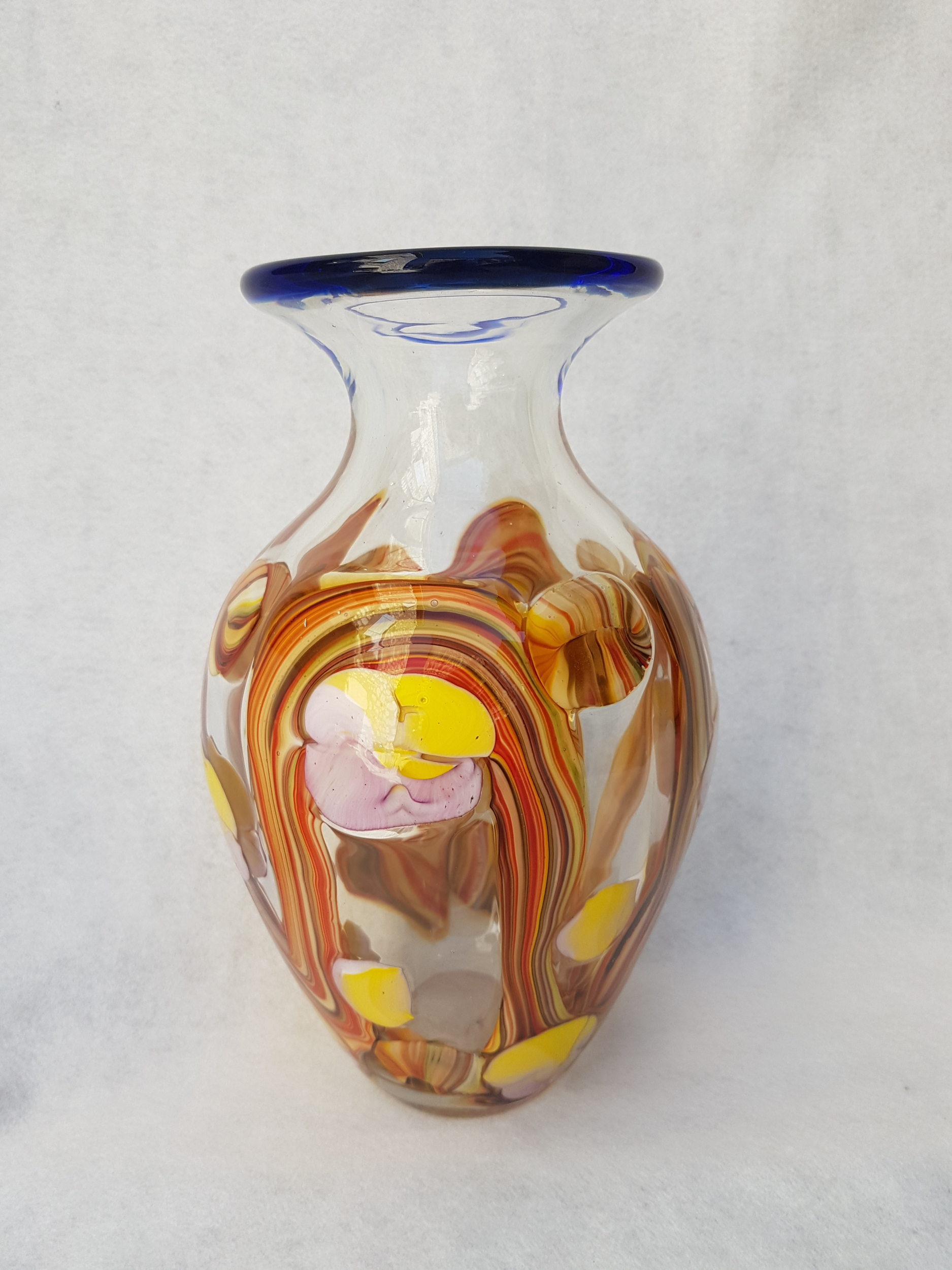 Vase Cabris en pâte de verre