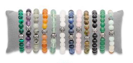 Bracelets boules pierres véritables
