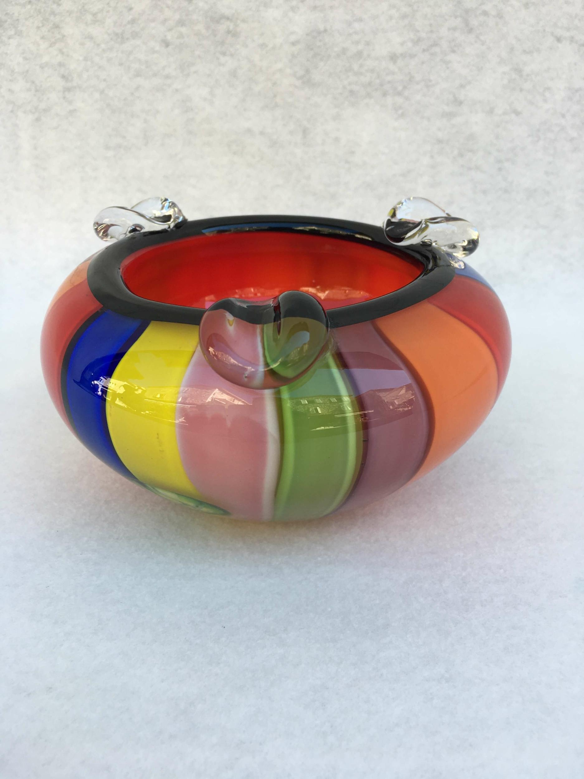 Cendrier multicolore