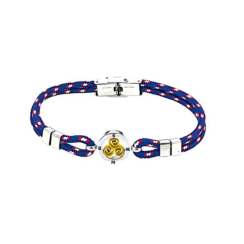 Bracelet Acier Cordelette Mouchetée Trisquel