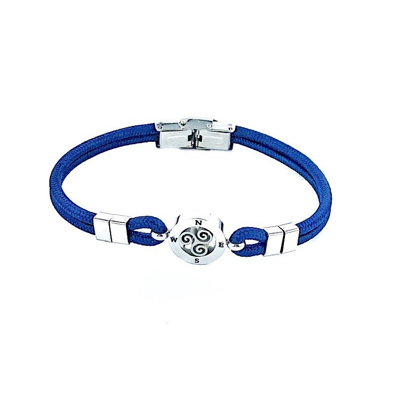 Bracelet Acier Cordelette Milanaise Trisquel