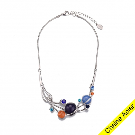 ADELAIDE-Collier multicolore