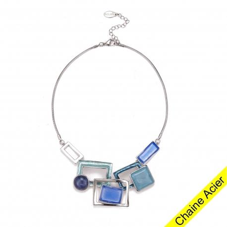 AKIRA-Collier bleu