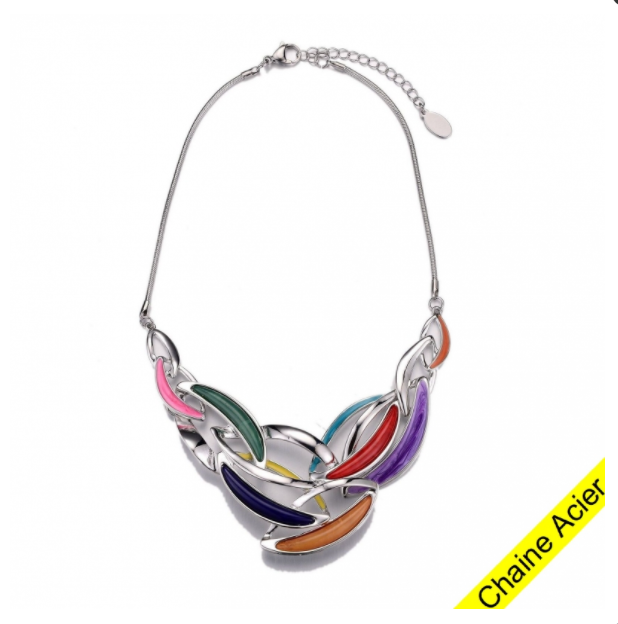 ARISU-Collier multicolore